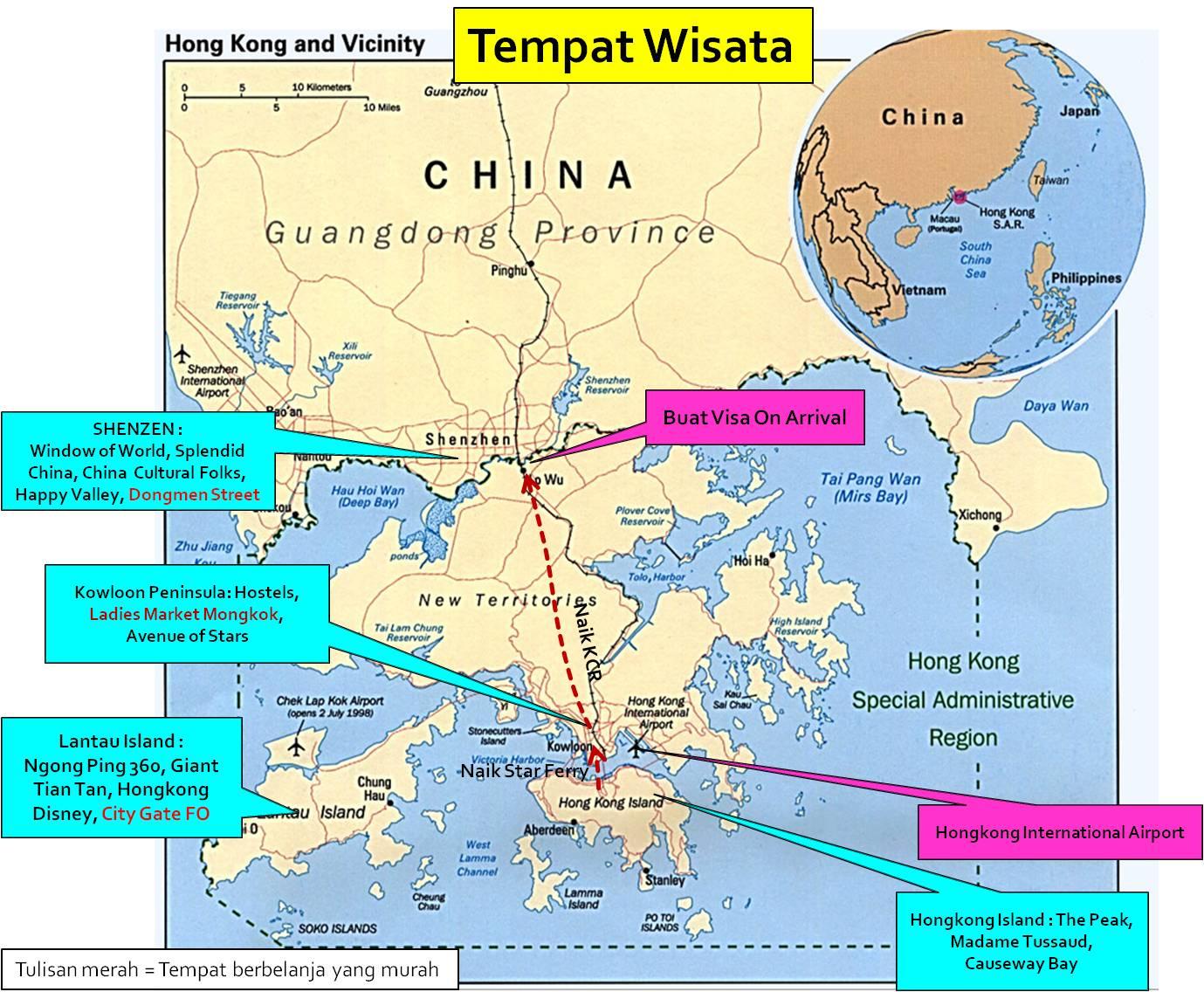 Info Tempat Wisata di HongKong dan Shenzen