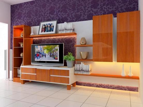 desain rak tv sesudah renovasi
