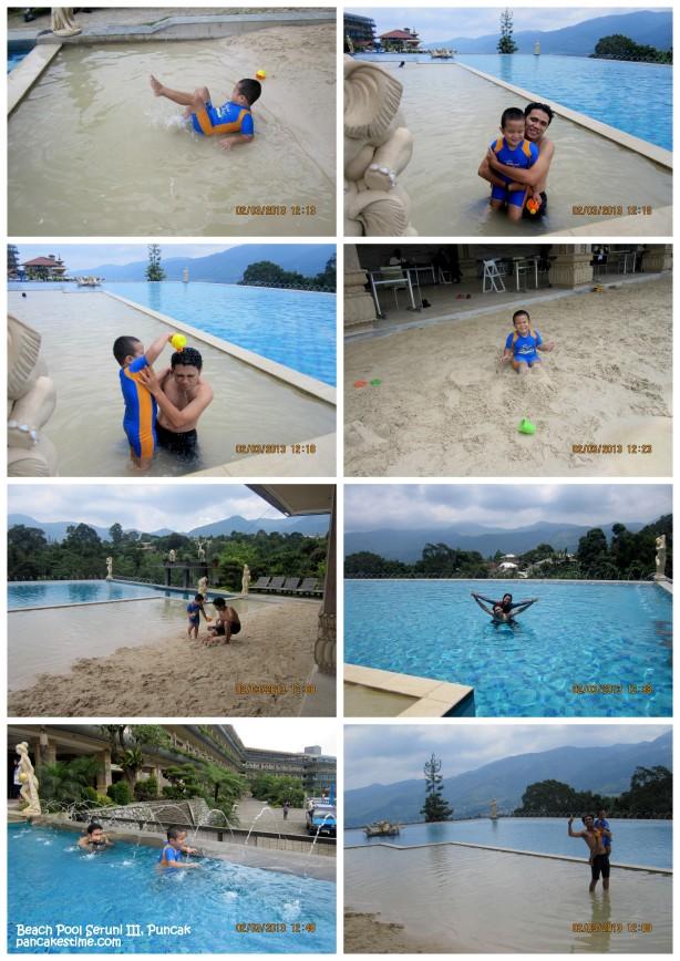 Kalau ke Puncak, jangan lupa coba Beach Pool Seruni III yaaa