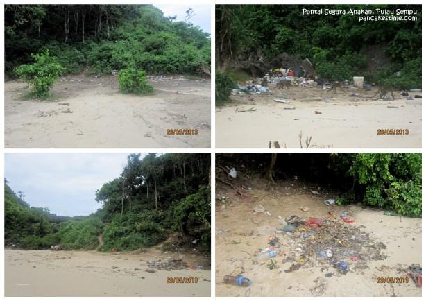 Pantai Segara Anakan kan ga gitu luas, jadi begitu ada sampah, kerasa banget kehadirannya. Sebel.