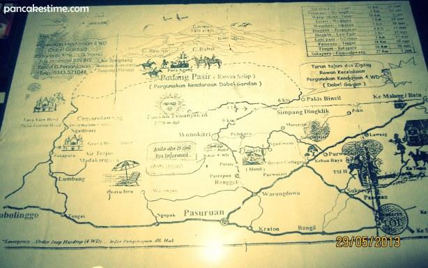 peta menuju bromo