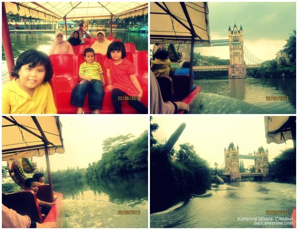 Jelajahi danau di Kampung Wisata