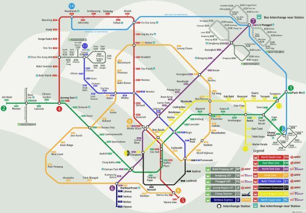 Jalur MRT Singapore 2013